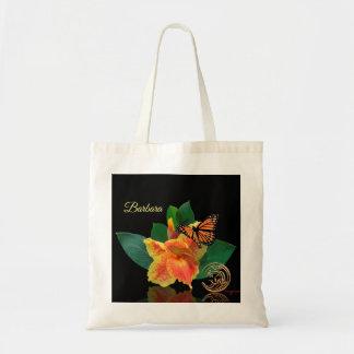 Tote Bag Papillon de monarque et lis de Canna Fourre-tout
