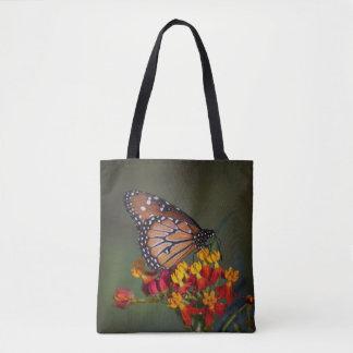 Tote Bag Papillon de reine sur le milkweed tropical