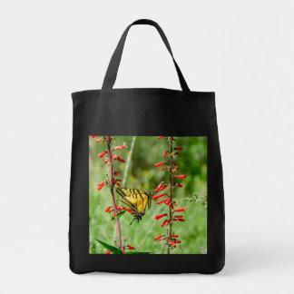Tote Bag Papillon et fleurs sauvages de machaon de tigre