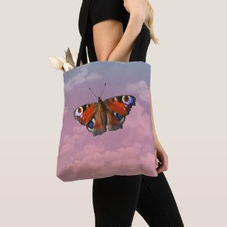 Tote Bag Papillon sur le ciel en pastel