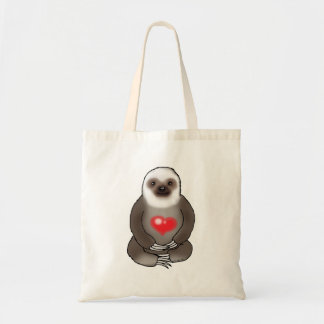 Tote Bag paresse mignonne avec le coeur rouge