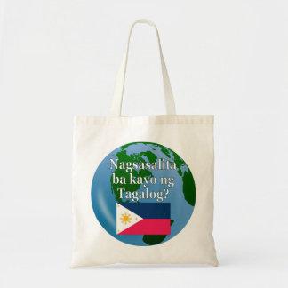 Tote Bag Parlez-vous Tagalog ? dans le Tagalog. Drapeau et