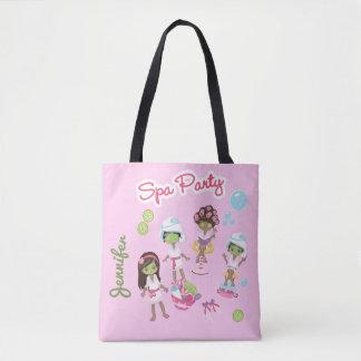 Tote Bag Partie mignonne de traitement de beauté de spa.