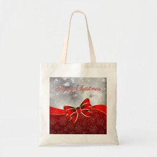 Tote Bag Parties scintillantes rouges d'argent d'arc