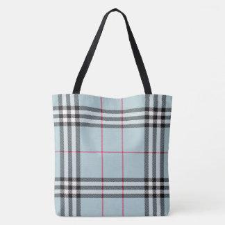 Tote Bag Partout copie grand Fourre-tout - plaid bleu