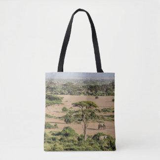 Tote Bag Paysage africain avec l'éléphant