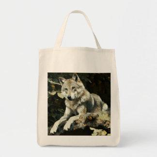 Tote Bag Peinture de loup de bois de construction
