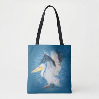 Tote Bag pélican 17 partout fourre-tout d'aquarelle