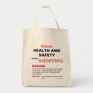Tote Bag Pensez le panneau d'avertissement drôle de