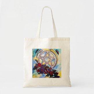 Tote Bag pentagramme 3d floral