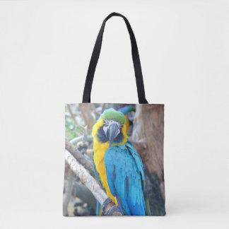 Tote Bag Perroquet coloré d'ara