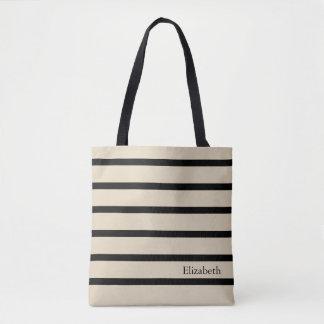 Tote Bag Personnalisé rayé