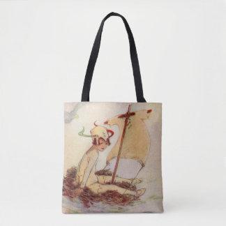 Tote Bag Peter Pan sur la peinture de livre de Barrie de