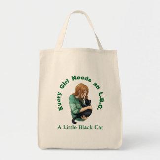 Tote Bag Petite épicerie Fourre-tout de chat noir