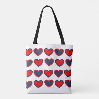 Tote Bag Petite série de coeurs - Fourre-tout