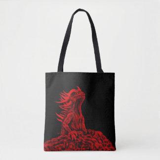 Tote Bag Peu de dragon rouge