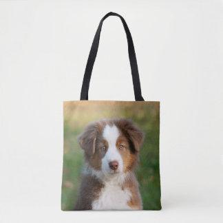 Tote Bag Photo australienne mignonne de chiot de chien de