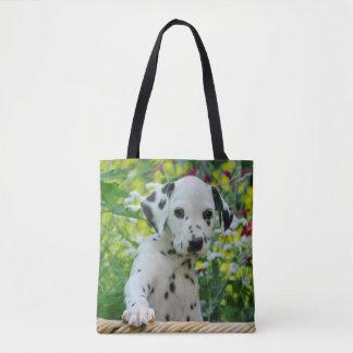 Tote Bag Photo dalmatienne mignonne de portrait de chiot de