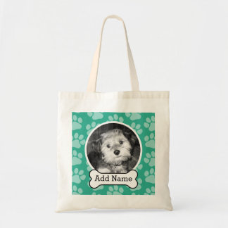 Tote Bag Photo d'animal familier avec le vert d'os et