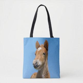 Tote Bag Photo islandaise mignonne d'avant de tête de poney