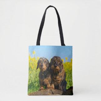 Tote Bag Photo mignonne d'animal familier de deux de