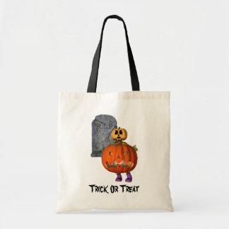 Tote Bag Pierre tombale Halloween d'homme de citrouille