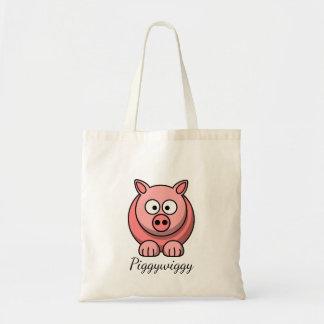 Tote Bag PiggyWiggy peu de porcelet mignon en pastel de
