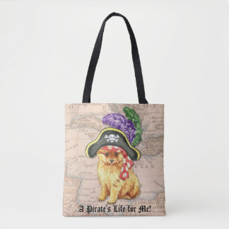 Tote Bag Pirate de Pomeranian