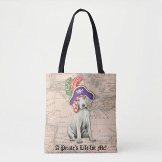 Tote Bag Pirate de Weimaraner