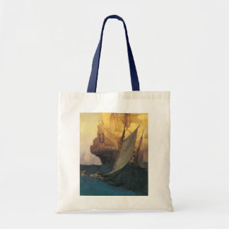 Tote Bag Pirate vintage, attaque sur un galion par Howard
