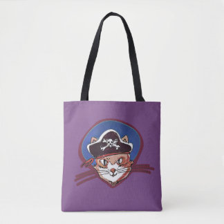 Tote Bag piratez le minou doux de chat avec la bande