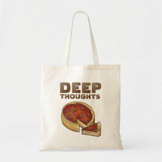 Tote Bag Pizza profonde Fourre-tout de plat de pensées