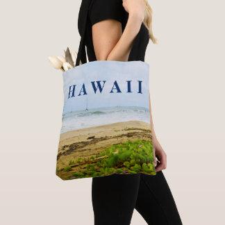 Tote Bag Plage et bateaux de Kauai Hawaï de baie de Hanalei