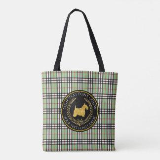 Tote Bag Plaid de Yourberry de premiers rangs de Terrier