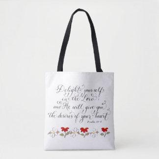 Tote Bag Plaisir dans la typographie de vers d'inspiration