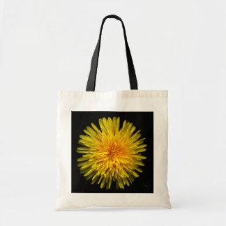Tote Bag Plantes sur des emballages - pissenlit jaune