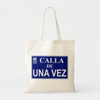 Tote Bag Plaque humoristique de rue de Madrid