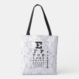 Tote Bag Plots réflectorisés de diagramme d'oeil d'art de