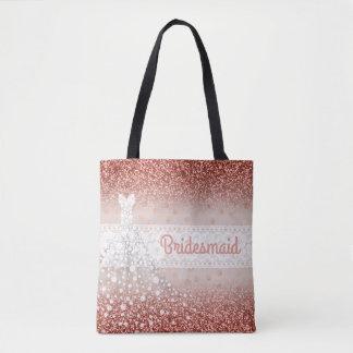 Tote Bag Pois rose chic de parties scintillantes d'Ombre