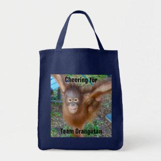 Tote Bag Pom-pom girl : Orang-outan d'équipe