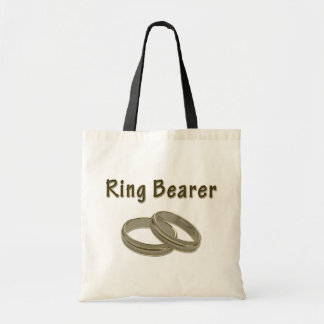 Tote Bag Porteur d'alliances avec les anneaux d'or
