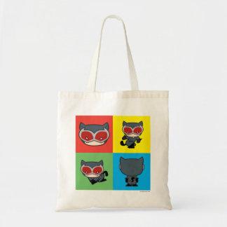 Tote Bag Poses de caractère de Catwoman de Chibi