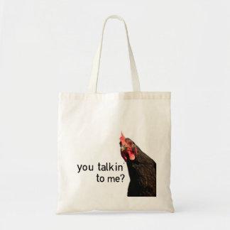 Tote Bag Poulet drôle d'attitude - vous talkin à moi ?