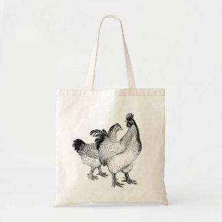 Tote Bag Poulets chics Fourre-tout