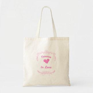 Tote Bag Pour toujours en faveurs de mariage d'amour