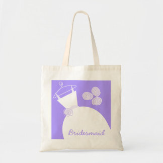 Tote Bag Pourpre 'Bridesmaid de robe de mariage