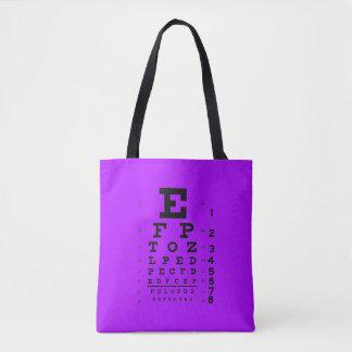 Tote Bag Pourpre de diagramme d'oeil de style d'art de