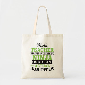 Tote Bag Professeur de maths Ninja multitâche pas une