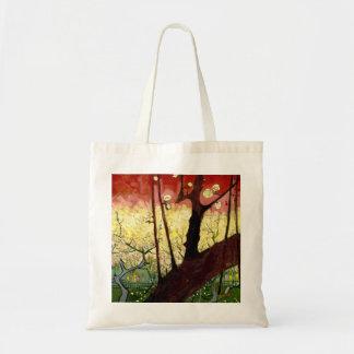 Tote Bag Prunier fleurissant après Hiroshige par Van Gogh