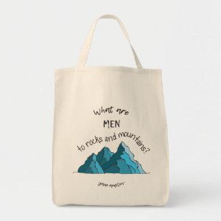 Tote Bag Quels sont des hommes aux roches et aux montagnes